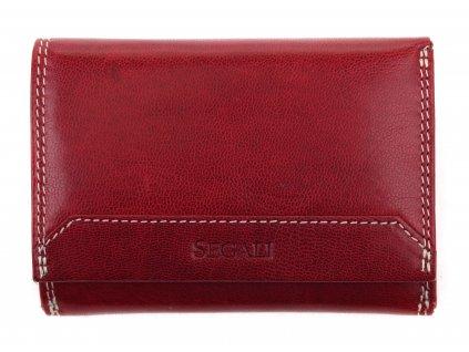 Dámská kožená peněženka Segali SG 7023Z vínově červená