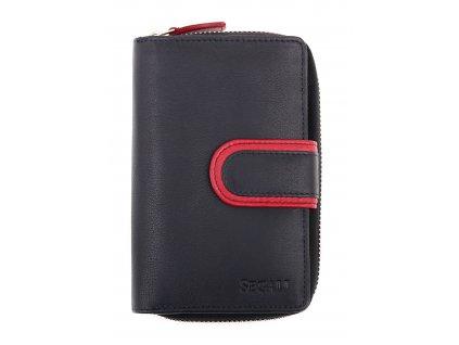 Dámská kožená peněženka Segali SG 1619B černá šervená