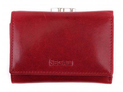 Malá dámská kožená peněženka Segali SG - 870 vínově červená