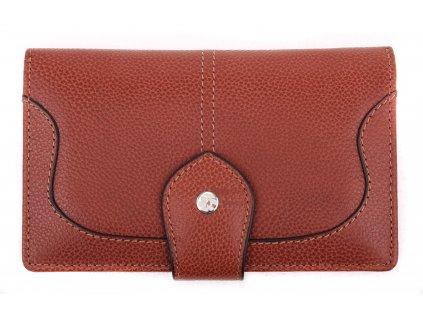 Velká dámská kožená peněženka Segali SG - 7062 koňakově hnědá