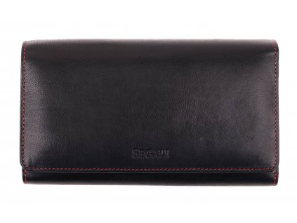 Dámská kožená peněženka Segali SG - 09 černočervená