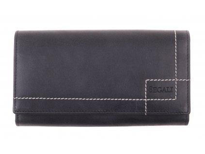Dámská kožená peněženka Segali SG - 07 tmavě šedočerná