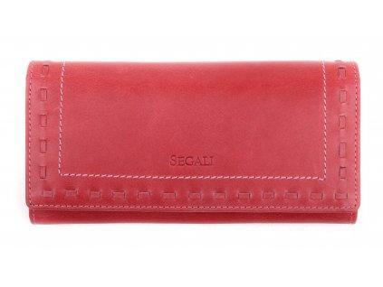 Dámská kožená peněženka Segali SG - 7052 červená