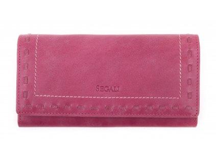 Dámská kožená peněženka Segali SG - 7052 fuchsiová