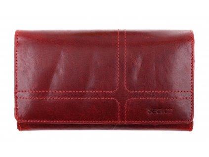 Dámská kožená peněženka Segali SG - 7055 červená