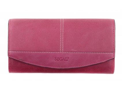 Dámská kožená peněženka Segali SG - 7056 fuchsiová