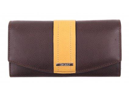 Dámská kožená peněženka Segali SG - 7063 hnědá