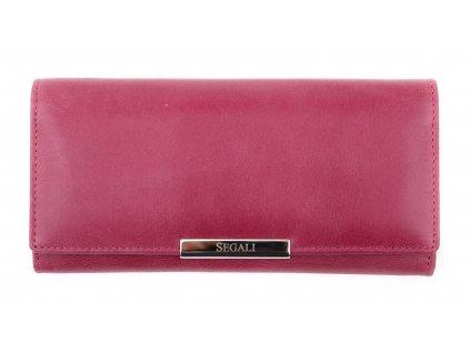 Dámská kožená peněženka Segali SG - 7066 fuchsiová