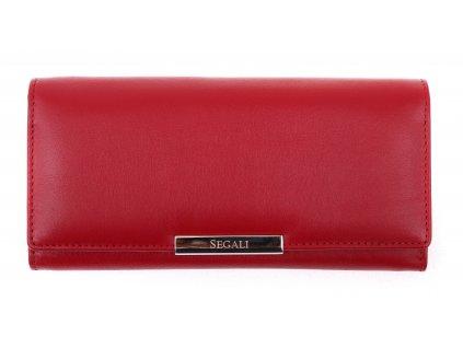 Dámská kožená peněženka Segali SG - 7066 červená