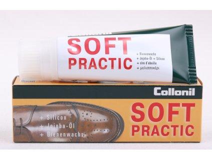 Collonil Soft Practic 75 ml tmavě hnědý - vyživující denní krém na obuv