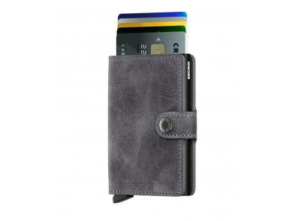 M Vintage Grey Black Front Cards