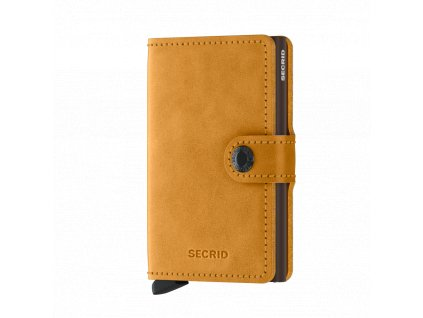 Kožená peněženka SECRID Miniwallet Vintage Ochre hořčicová