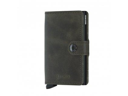 Kožená peněženka SECRID Miniwallet Vintage Olive Black tmavá oliva