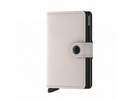 Kožená peněženka SECRID Miniwallet Matte Chalk bílá