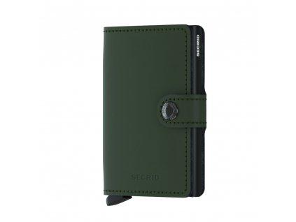 Kožené pouzdro na karty SECRID Miniwallet Matte Green zelená