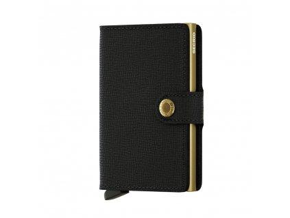 Kožená peněženka SECRID Miniwallet Crisple Black Gold černá se zlatým pouzdrem