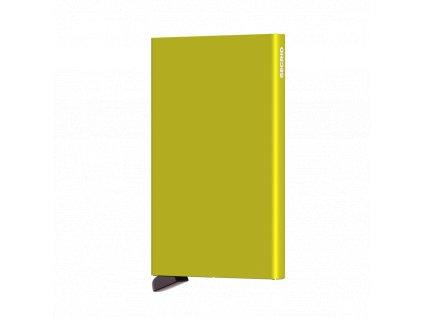 Kovové pouzdro na platební karty Cardprotector SECRID Lime limetkově žluté