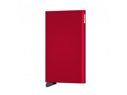 Hliníkové pouzdro na platební karty Cardprotector SECRID Red červená