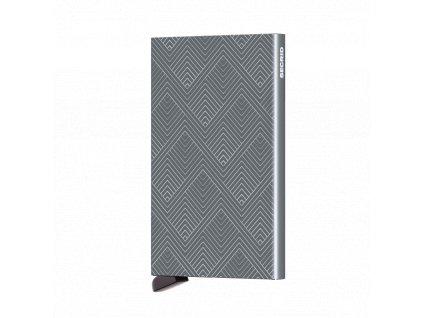 Ochranné pouzdro na karty Cardprotector SECRID Laser Structure Titanium tmavě šedé se vzorem