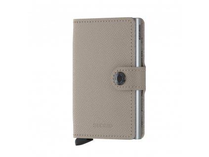Kožená peněženka SECRID Miniwallet Crisple Taupe Camo béžová