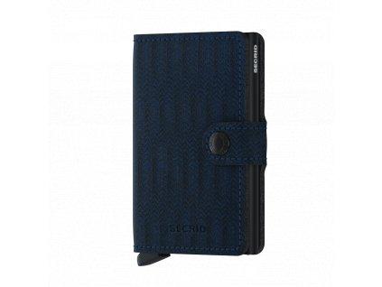 Pánská kožená peněženka SECRID Miniwallet Dash Navy modrá