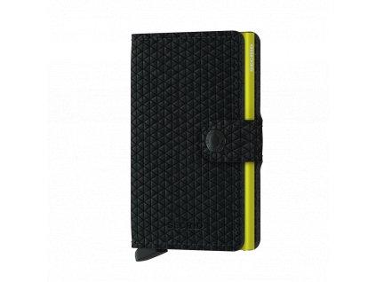 Pánská kožená peněženka SECRID Miniwallet Diamond Black černá se žlutou