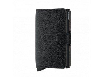 Kožené pouzdro na karty SECRID Miniwallet Veg Black černé s RFID ochranou