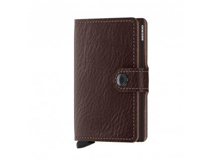 Kožená peněženka SECRID Miniwallet Veg Espresso hnědá s RFID ochranou