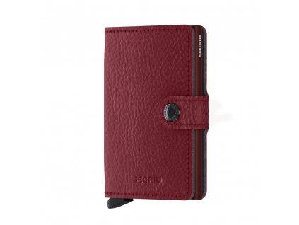 Kožená peněženka SECRID Miniwallet Veg Rosso červená