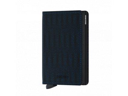 Kožená peněženka SECRID Slimwallet Dash Navy modrá