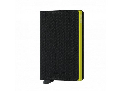 Kožená peněženka SECRID Slimwallet Diamond Black černá žlutá