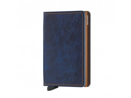 Kožená peněženka SECRID Slimwallet Indigo tmavě modrá džínová
