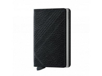 Kožená peněženka SECRID Slimwallet Stitch Linea Black černá