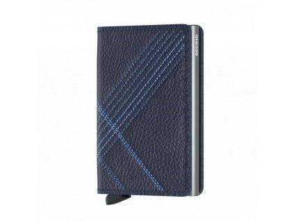 Kožená peněženka SECRID Slimwallet Stitch Linea Navy modrá