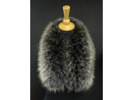 Kožešina lem / límec na kapuci z finského mývalovce 10060 Black Natur