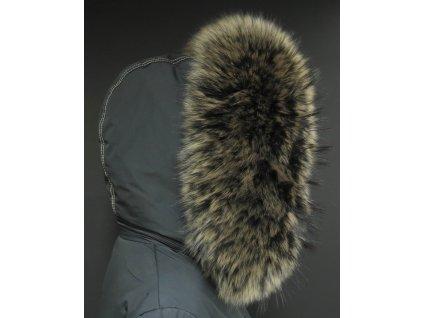 Kožešina lem / límec na kapuci z finského mývalovce 10061 Black Natur
