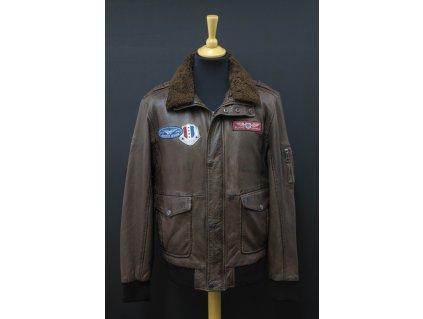 Pánská kožená bunda Gipsy Cruise Bomber - hnědá