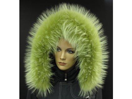 Kožešina lem / límec na kapuci z finského mývalovce 10111 LIMETA