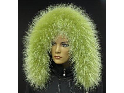 Kožešina lem / límec na kapuci z finského mývalovce 10112 LIMETA