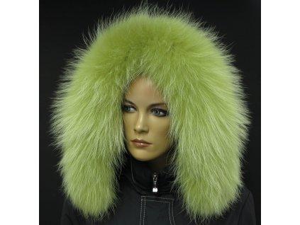 Kožešina lem / límec na kapuci z finského mývalovce 10113 LIMETA