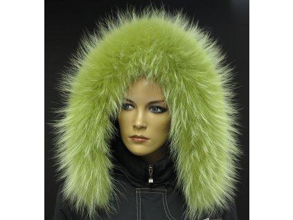 Kožešina lem / límec na kapuci z finského mývalovce 10114 LIMETA