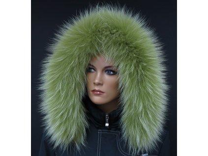 Kožešina lem / límec na kapuci z finského mývalovce 10115 LIMETA