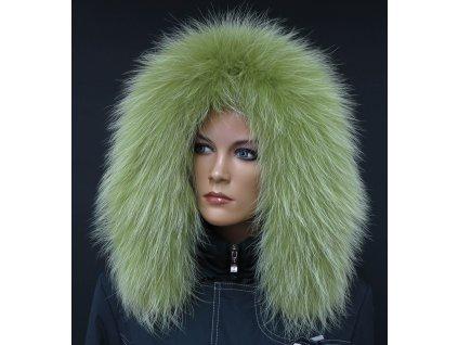 Kožešina lem / límec na kapuci z finského mývalovce 10117 LIMETA