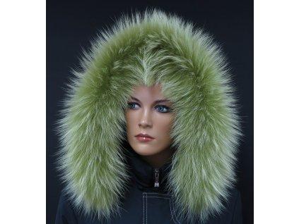 Kožešina lem / límec na kapuci z finského mývalovce 10120 LIMETA