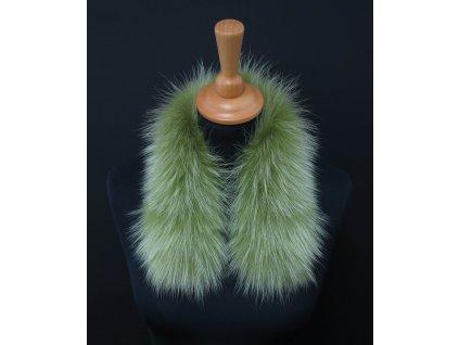 Kožešina lem / límec na kapuci z finského mývalovce 10122 LIMETA 50 CM KRÁTKÝ 2. JAKOST