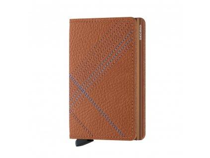 Kožená peněženka SECRID Slimwallet Stitch Linea Caramello koňaková