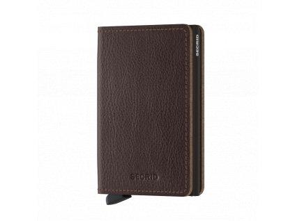 Kožená peněženka SECRID Slimwallet Veg Espresso hnědá