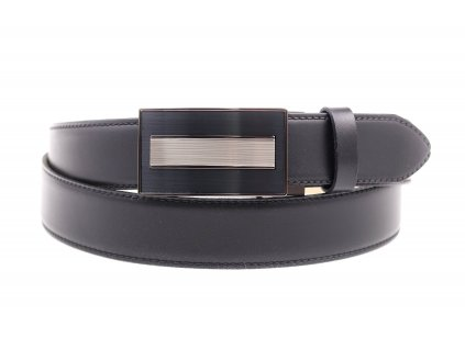 Pánský kožený opasek Penny Belts 3565 s plnou sponou AUTOMAT černý