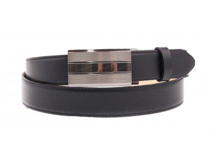Pánský kožený opasek Penny Belts 3568 s plnou sponou AUTOMAT černý