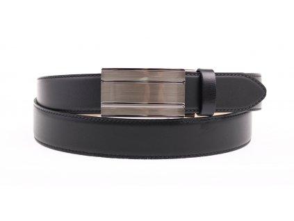 Pánský kožený opasek Penny Belts 3569 s plnou sponou AUTOMAT černý